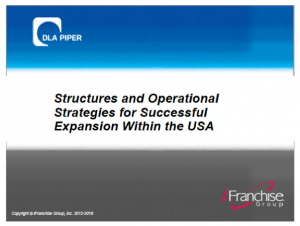 Structures and Operational Strategies for Successful Expansion Within the USA