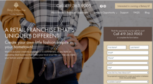 Betsey's Boutique Shop Franchise Website