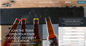 Voodoo Brewery Franchise Website
