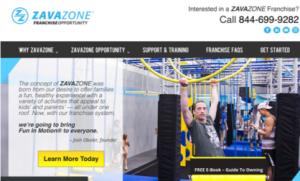 Zavazone Franchise Website