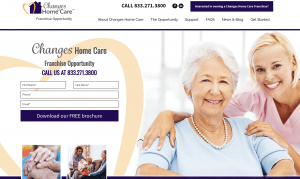 Changes Home Care Franchise Website