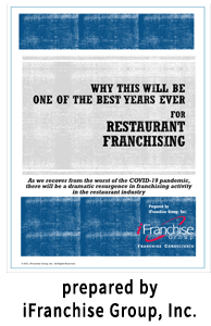 Why 2021 Will Be the Best Year for Restaurant Franchising Prepared by iFranchise Group, Inc.